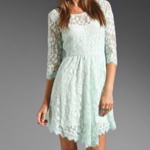 Free People Lace Asymmetrical Hem Dress